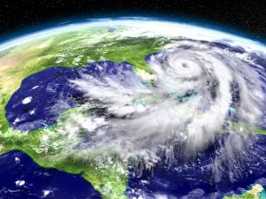 Hurricane Matthew seen from space heading towards Florida.